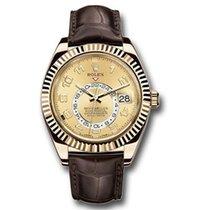Rolex Sky-Dweller Жёлтое золото 42mm Цвета шампань
