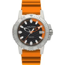 Nautica Quartz Watch Orange Silicon Strap KYW NAPKYW002