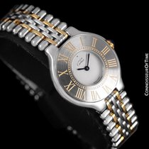 Cartier 21 Must de Cartier Gold/Steel 28mm Silver Roman numerals