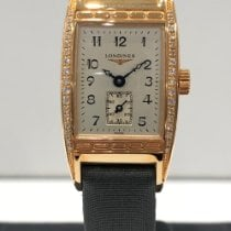 Longines BelleArti Rose gold 19mm Silver Arabic numerals