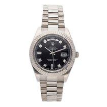 Rolex Day-Date II White gold 41mm Black No numerals United States of America, Pennsylvania, Bala Cynwyd