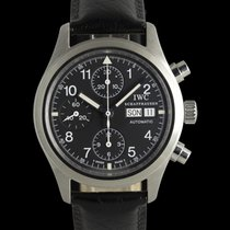IWC Pilot Chronograph Zeljezo 39mm Crn