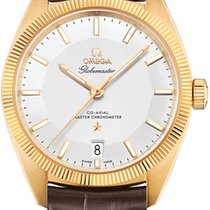 Omega Yellow gold Automatic Silver 39mm new Globemaster