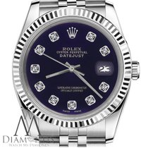 Rolex Purple Dial Womens Rolex 26mm Datejust W Diamond Numbers...