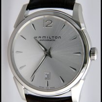 Hamilton JAZZMASTER SLIM AUTO Steel-Brown Leather 40mm H-38515555