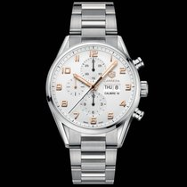 TAG Heuer Carrera Calibre 16 Steel 43mm Silver Arabic numerals