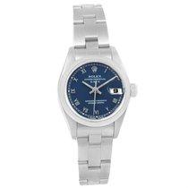 Rolex Date Blue Dial Oyster Bracelet Steel Ladies Watch 69160