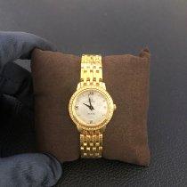 Omega новые Кварцевые Отделка драгоценными камнями 24.4mm Жёлтое золото Сапфировое стекло