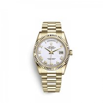Rolex Day-Date 36 Zuto zlato 36mm Bjel