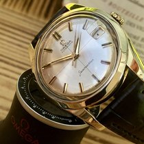 Omega Seamaster 14K Gold Capped Crosshair Dial men automatic...