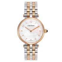 Louis Erard Romance Gold/Steel 40mm Mother of pearl Arabic numerals
