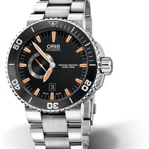 Oris Aquis Small Second Steel 46mm Black