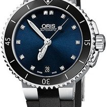 Oris Steel Automatic Blue 36mm new Aquis Date