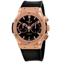 Hublot Rose gold Automatic Black 45mm new Classic Fusion Chronograph