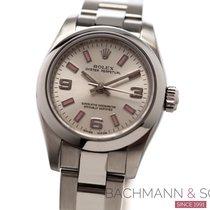Rolex Oyster Perpetual 26 Stahl 26mm Silber Arabisch
