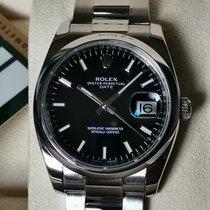 Rolex Oyster Perpetual Date Çelik 34mm Siyah Sayılar yok