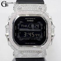 Casio Silber Quarz Schwarz Arabisch 55.5mm neu G-Shock