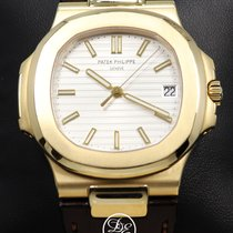 Patek Philippe Yellow gold Automatic Silver No numerals 43mm pre-owned Nautilus