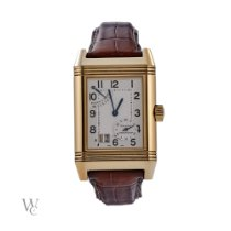 Jaeger-LeCoultre Reverso Grande Date occasion 29mm Argent Cuir