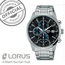 Lorus Steel 42mm Quartz RM329DX9 new
