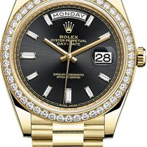 Rolex Day-Date 40 Yellow gold 40mm Black United States of America, New York, Airmont