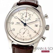IWC Portugieser Chronograph Stahl 42mm Silber Arabisch Deutschland, München