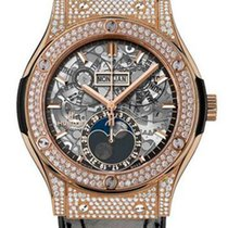 Hublot Classic Fusion Moonphase King Gold Pave 45 mm