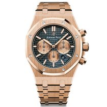 Audemars Piguet Royal Oak Chronograph Rose Gold Blue Dial 41mm