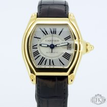 Cartier Roadster   Large 18ct Yellow Gold Crocodile Strap ...