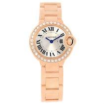 Cartier Ballon Blue Rose Gold Diamond Ladies Watch We9002z3...