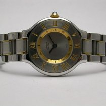 Cartier 21 Must Watch Stainless Steel/gold Ladies Watch Style...