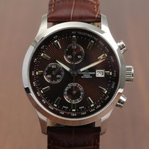 Jacques Lemans Automatic Chronograph brown dial NEW OLD STOCK