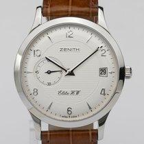 Zenith Elite Steel 37mm Silver Arabic numerals