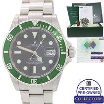 Rolex NOS NEW STICKERS PAPERS Rolex Kermit Green Submariner...