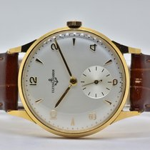 Ulysse Nardin Red gold Automatic Silver No numerals 35mm pre-owned Classic