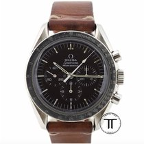 Omega Steel Manual winding Black No numerals 42mm pre-owned Speedmaster Professional Moonwatch