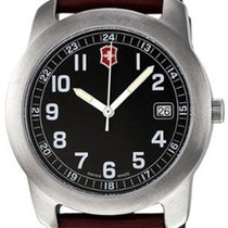 Victorinox Swiss Army new Quartz Center Seconds Luminescent Hands 38mm Steel Mineral Glass