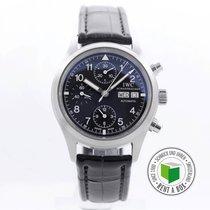 IWC Fliegeruhr Chronograph Stahl 39mm Schwarz Arabisch Schweiz, Luzern
