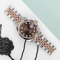 Rolex Lady-Datejust Or/Acier 28mm Brun