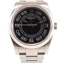 Rolex Oyster Perpetual Stahl 36mm Schwarz
