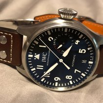IWC Big Pilot pre-owned 46mm Black Date Calf skin