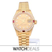 Rolex Lady-Datejust 69068 Very good Yellow gold 26mm Automatic