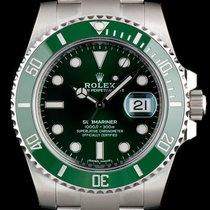 Rolex Submariner Date Steel 40mm Green No numerals United Kingdom, London