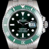 Rolex Submariner Date Rolex Submariner Hulk 116610LV Não usado Aço 40mm Automático