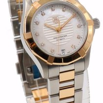 TAG Heuer Ladies Two-Tone Aquaracer MOP & Diamond Dial...