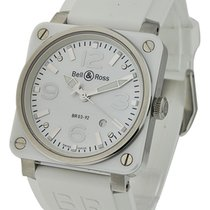 Bell & Ross BR03-92-SC BR03-92 in Steel with White Ceramic...