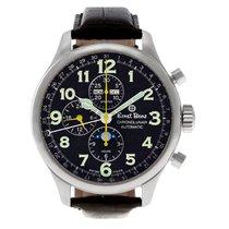Ernst Benz Chronolunar 10311 stainless steel Black dial 47mm...