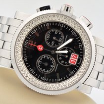 Michele Sport Sail Diamond Chronograph Stainless Steel Black...