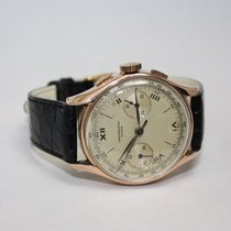Chronographe Suisse Cie Rose gold 34mm Manual winding pre-owned