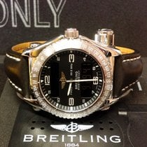Breitling Emergency White gold Black Arabic numerals